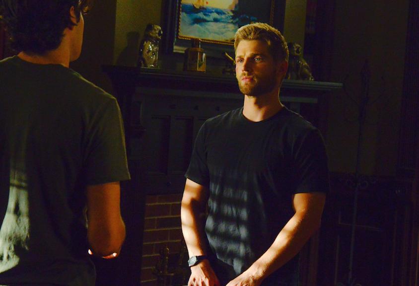 Alexander Koch as Junior Rennie and Mike Vogel as Dale