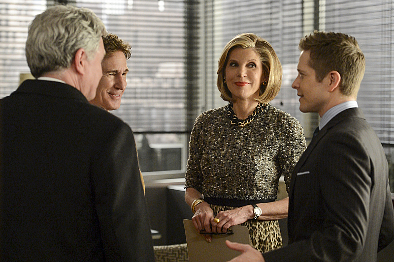 5. She is aware of all the good looking men on The Good Wife