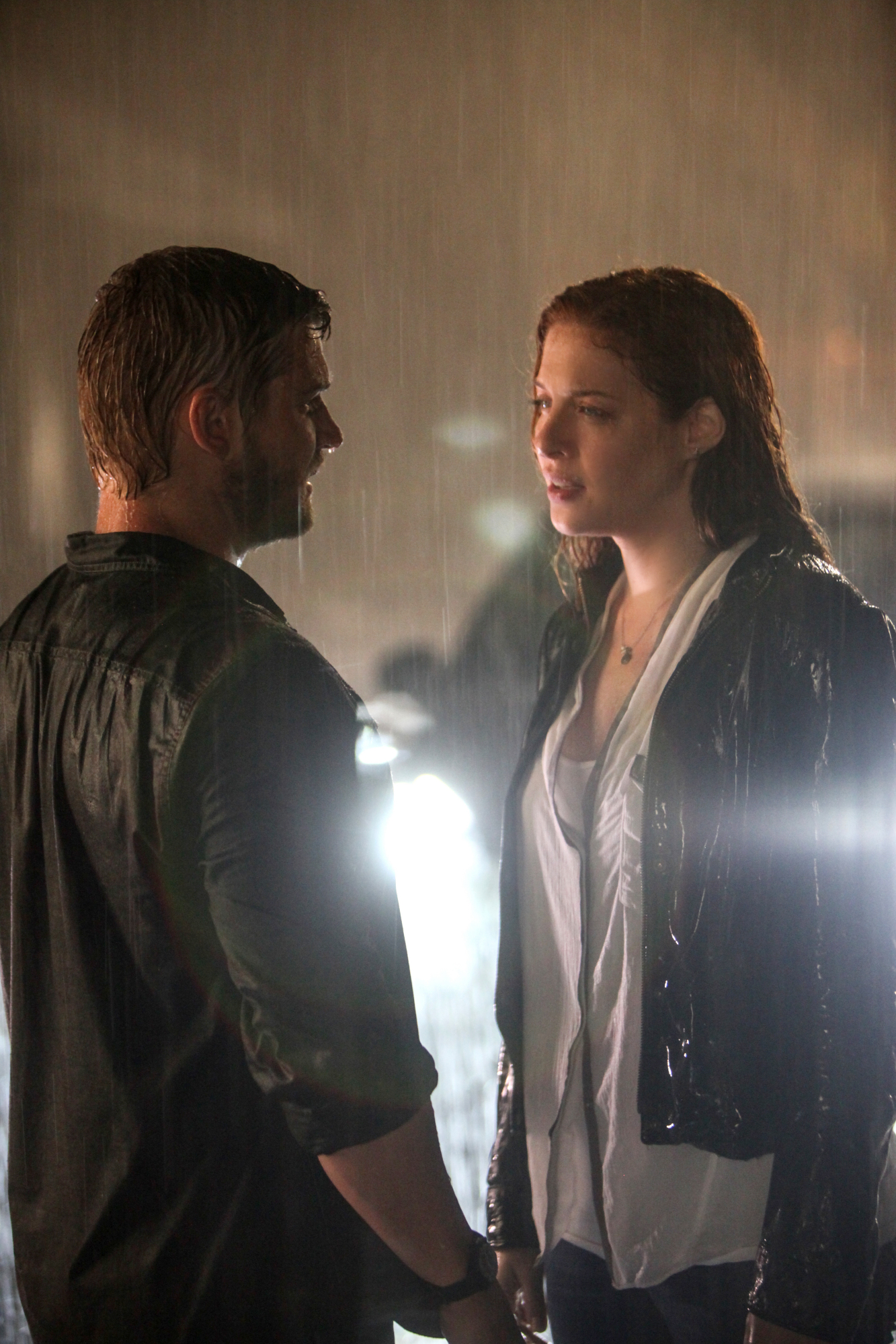 6. When they kissed in the rain