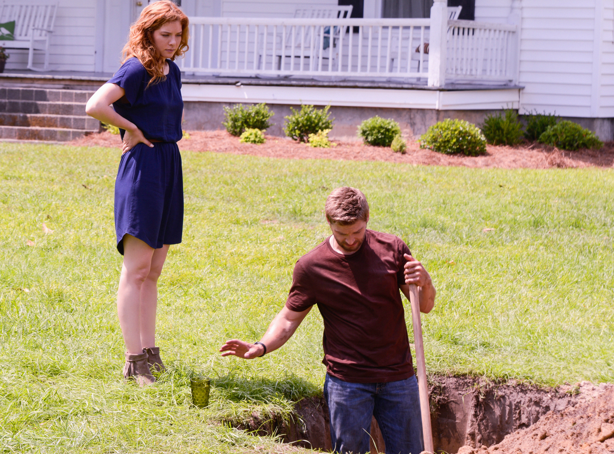 8. When they dug a hole together