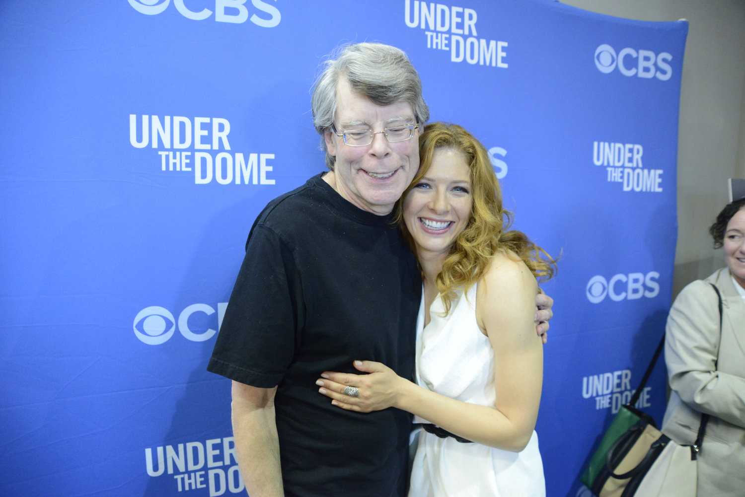Stephen King and Rachelle Lefevre