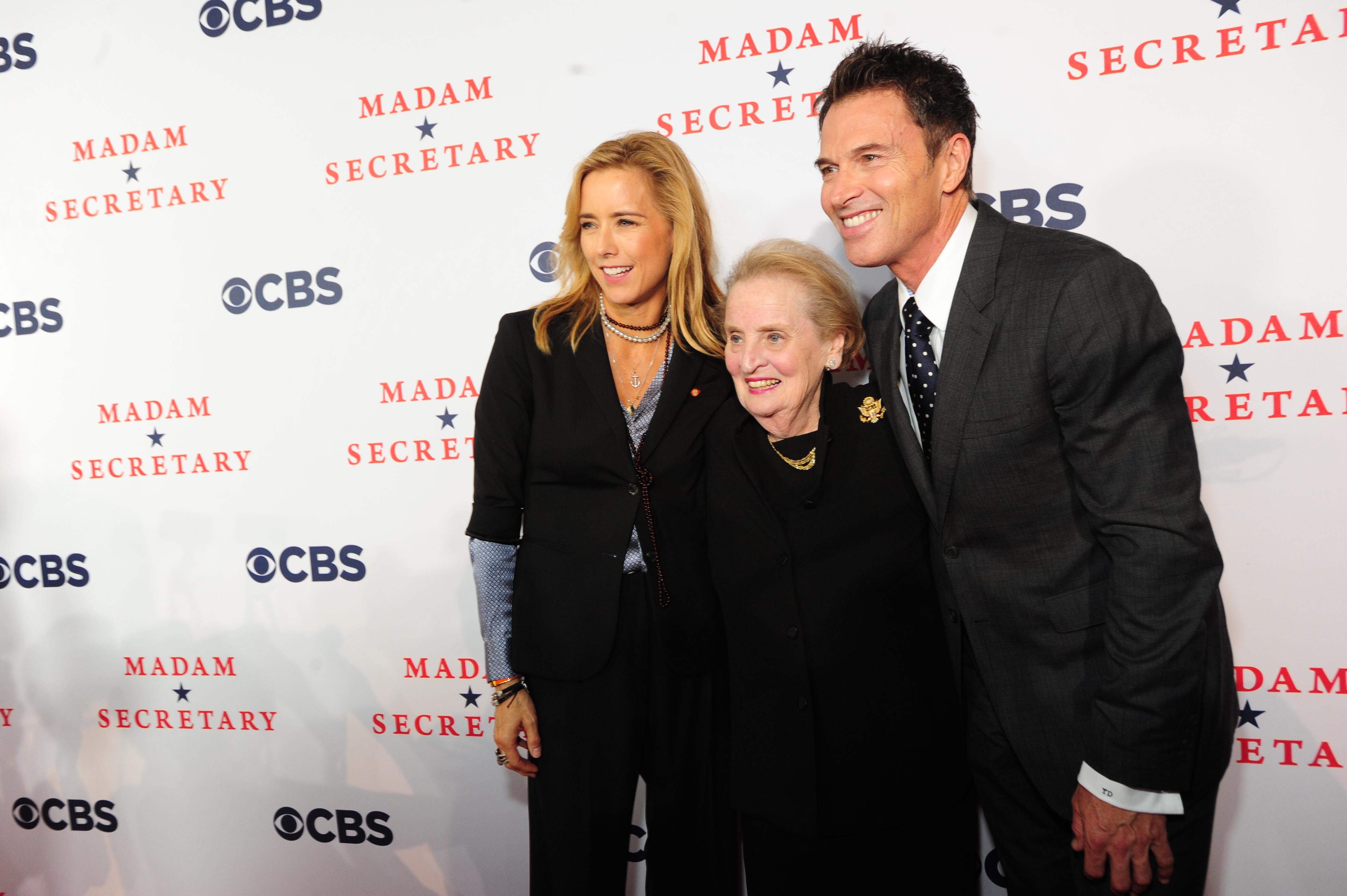 Téa Leoni, Madeleine Albright, Tim Daly on the Red Carpet