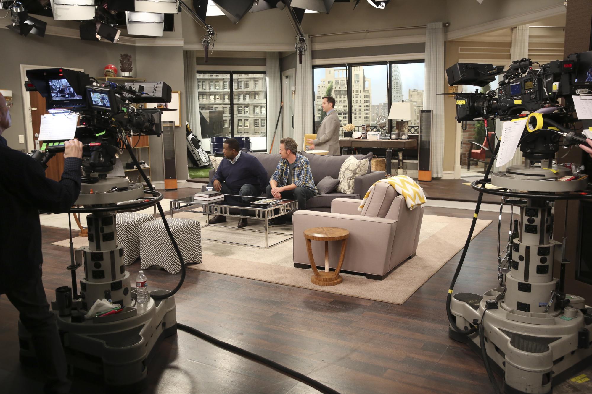 Actors on set