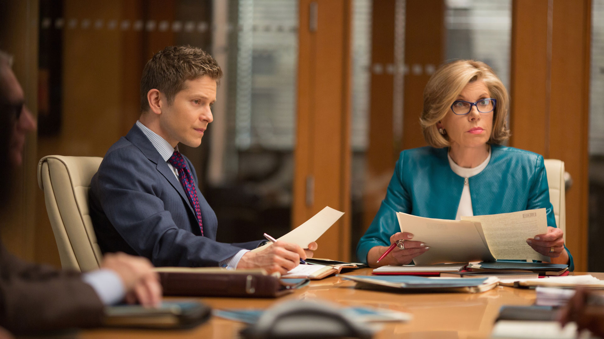 Matt Czuchry as Cary Agos and Christine Baranski as Diane Lockhart