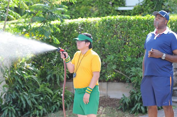 Masi Oka as Dr. Max Bergman and Chi McBride as Captain Lou Grover