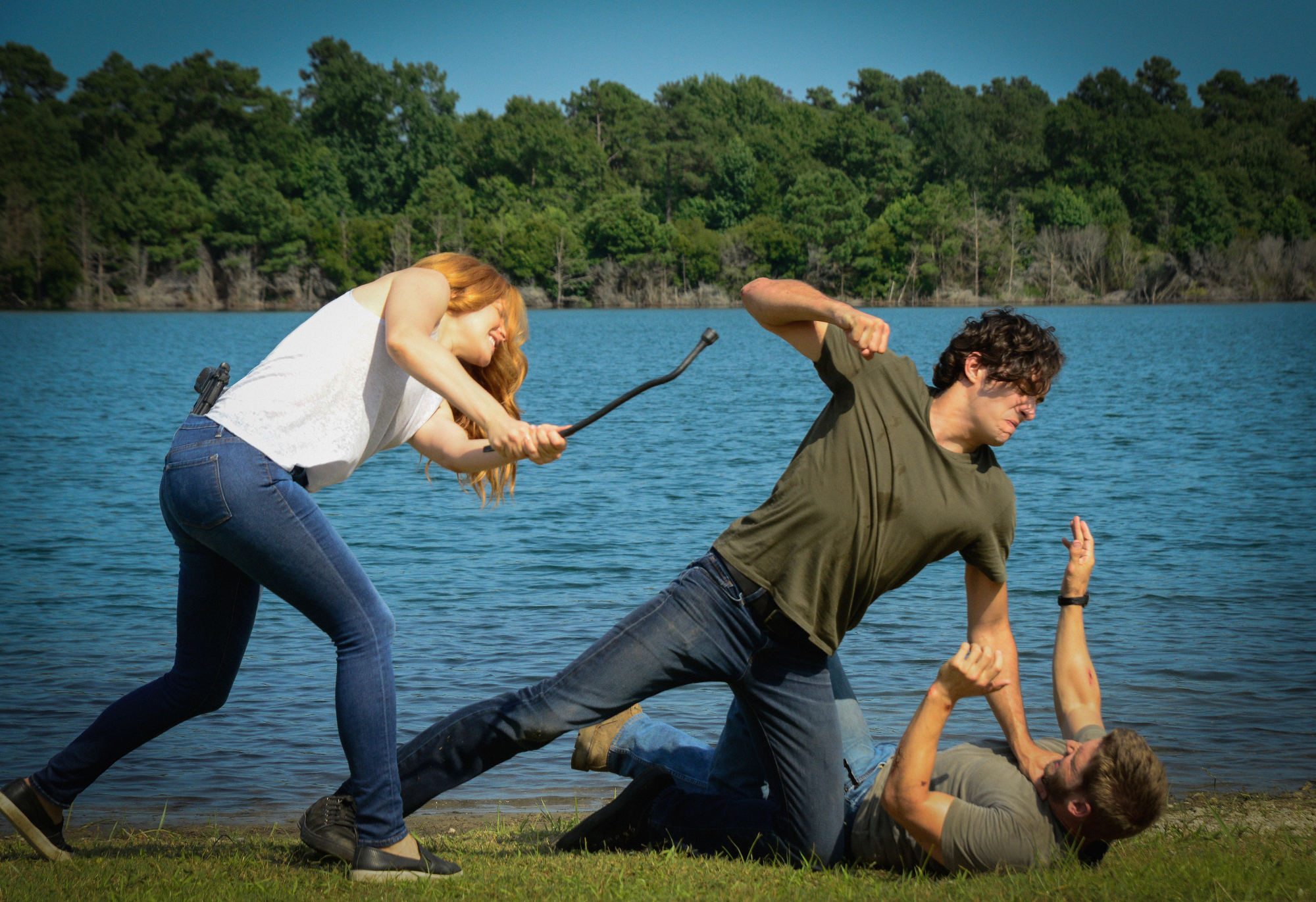 Rachelle Lefevre as Julia Shumway, Alexander Koch as Junior Rennien and Mike Vogel as Dale