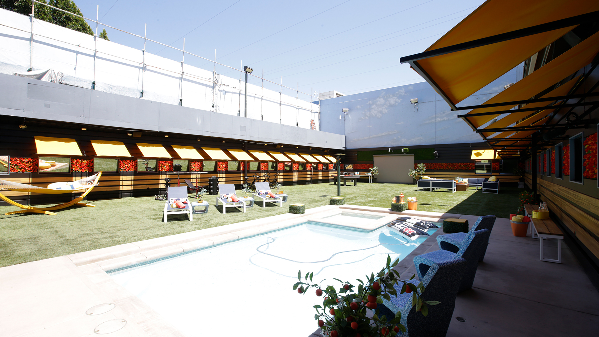 The yard is outfitted with a new pool table and the trademark pool and spa made for a summer of scheming.