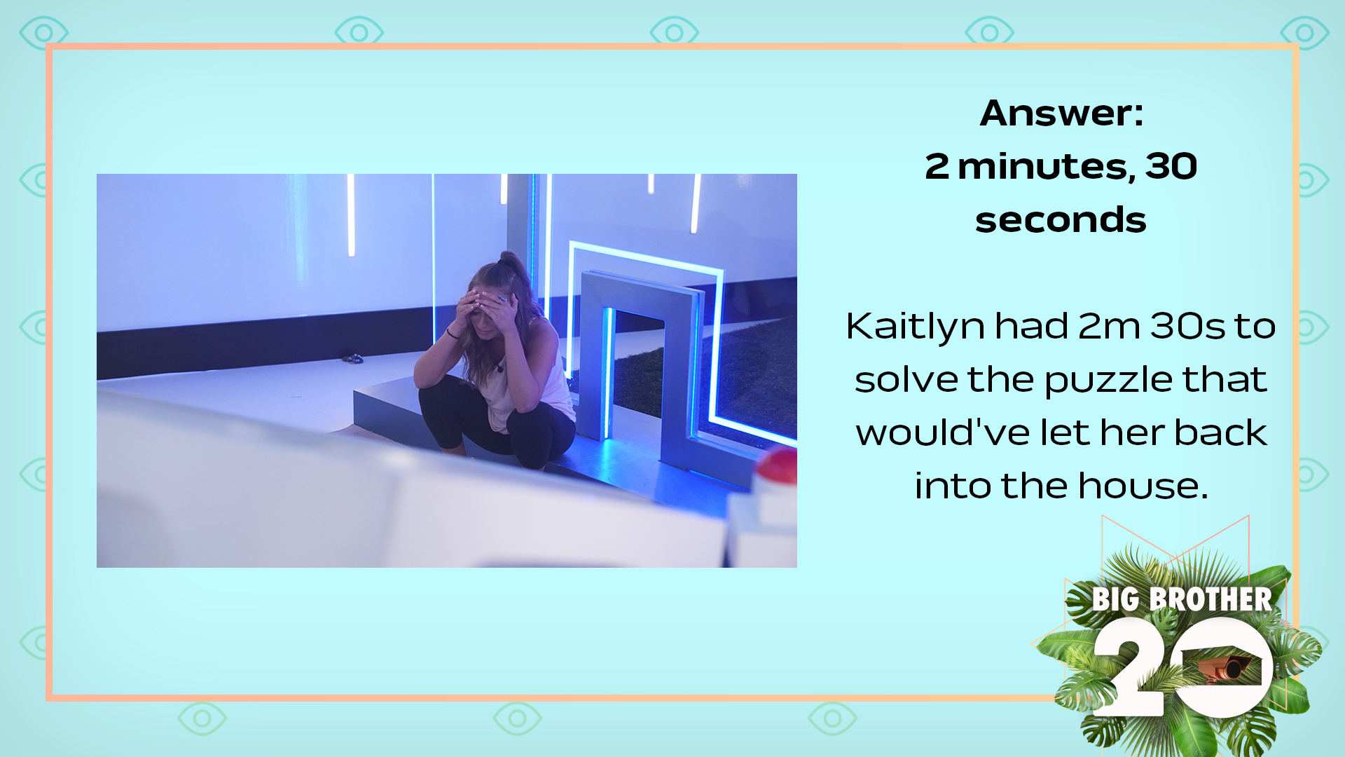 Answer: 2 minutes, 30 seconds