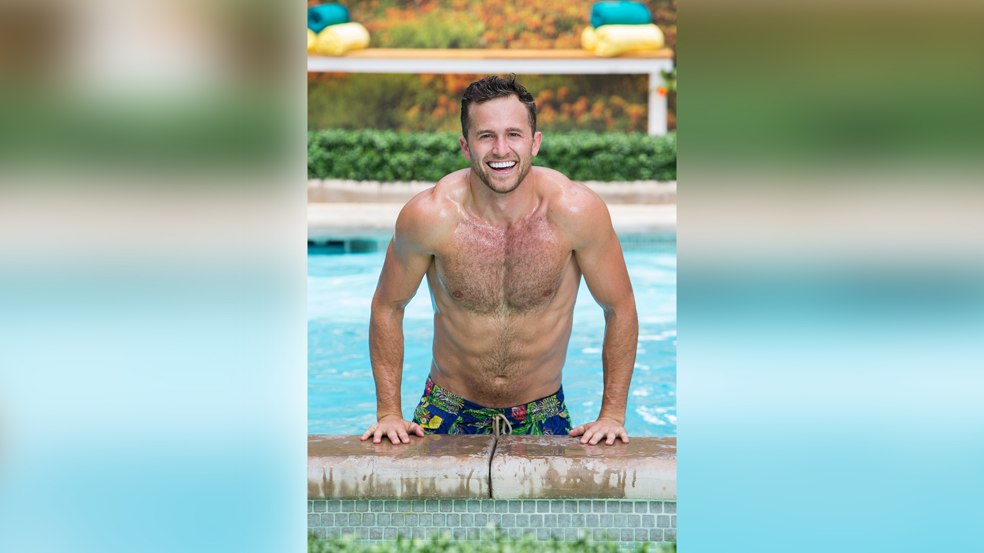 Winston Hines looks right at home taking a dip in the BB20 pool.