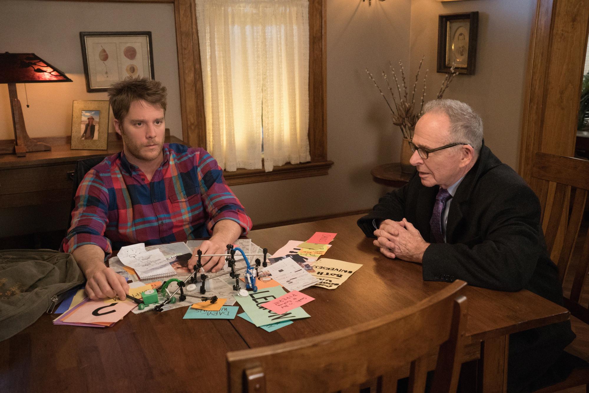 Jake McDorman as Brian Finch and Ron Rifkin as Dennis Finch