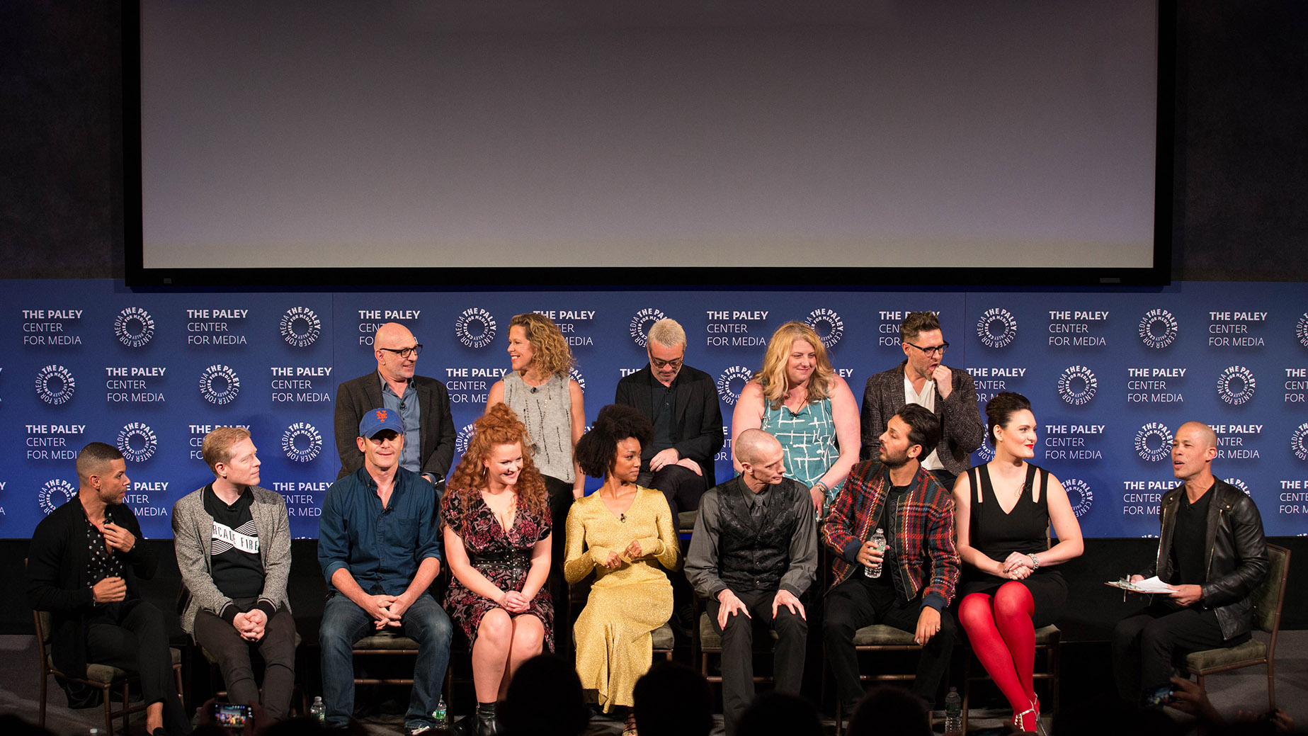 The cast and crew on-stage at PaleyFest