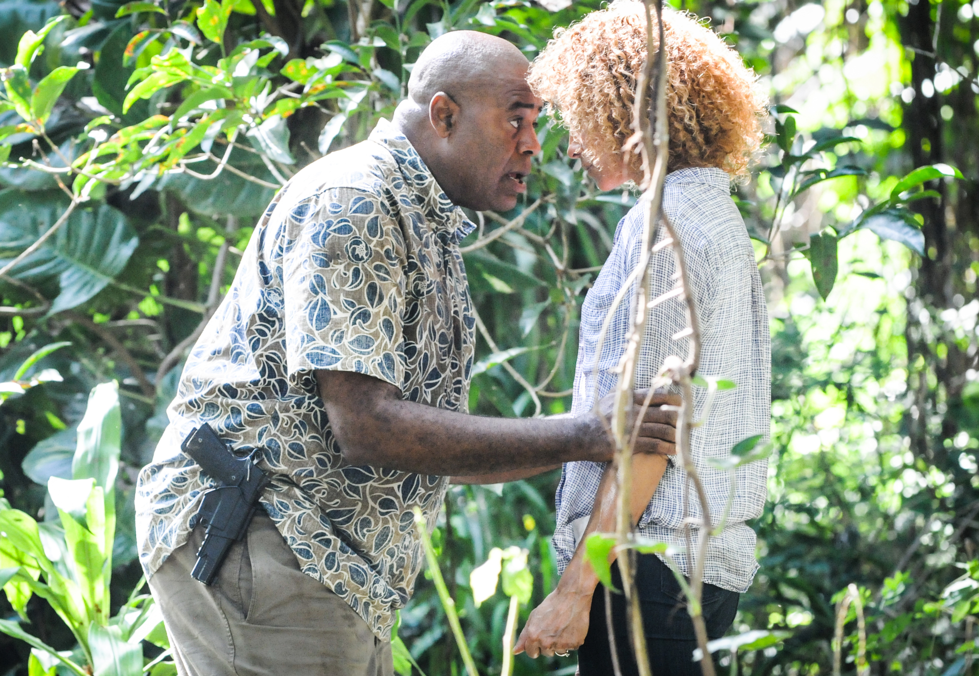 Chi McBride as Lou Grover and Michelle Hurd as Renee Grover