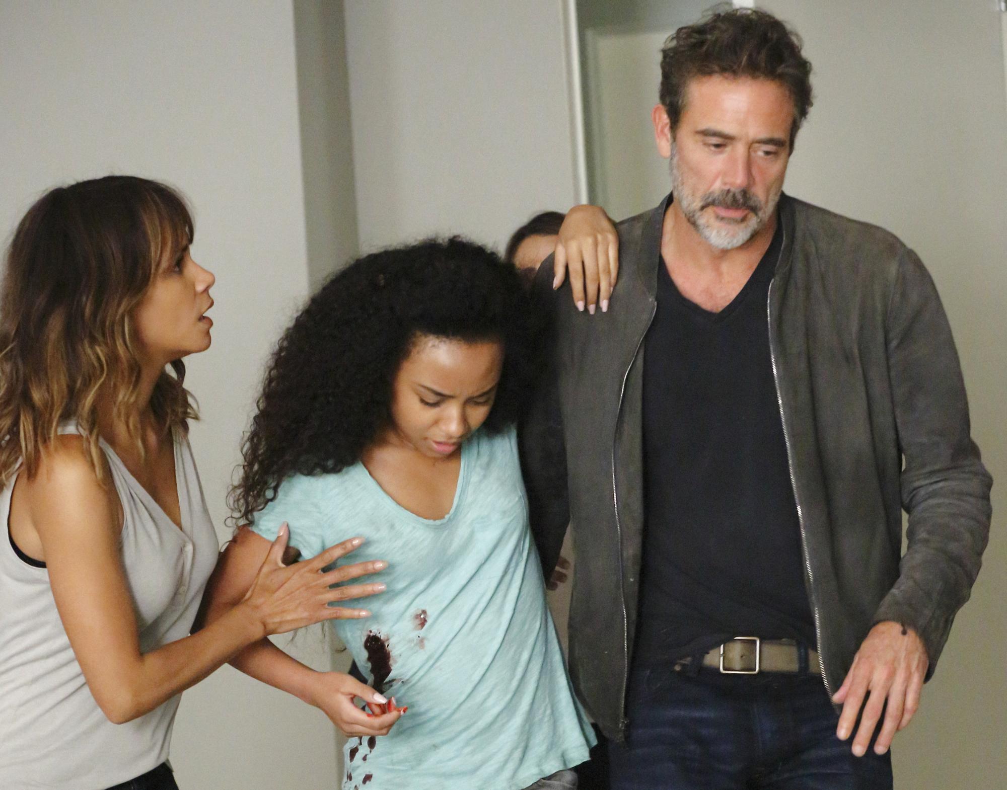 Halle Berry as Molly Woods, McKenna Roberts as Terra, and Jeffrey Dean Morgan as JD Richter.