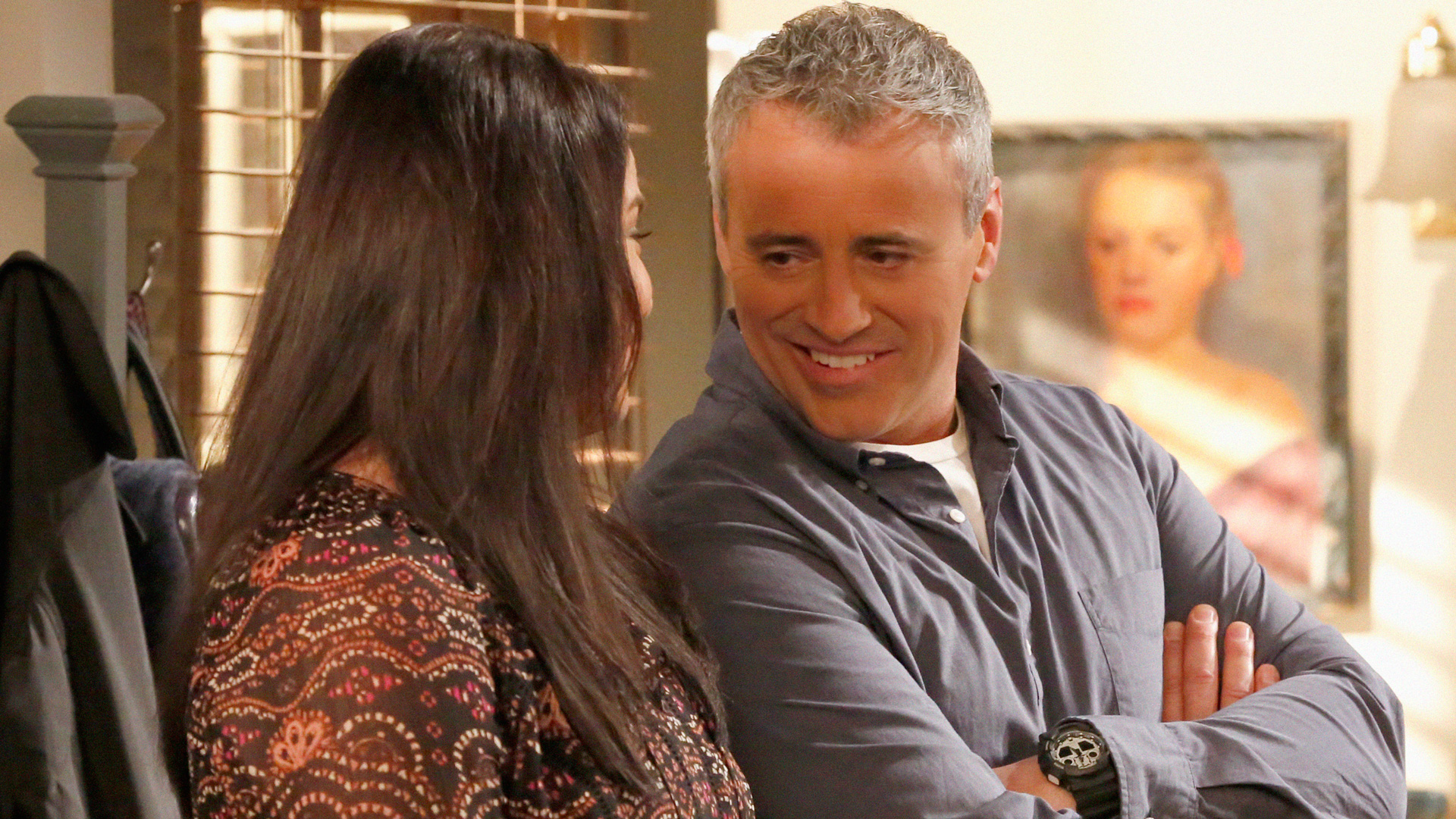 This grey-haired guy only has eyes for one lucky lady—Andi.