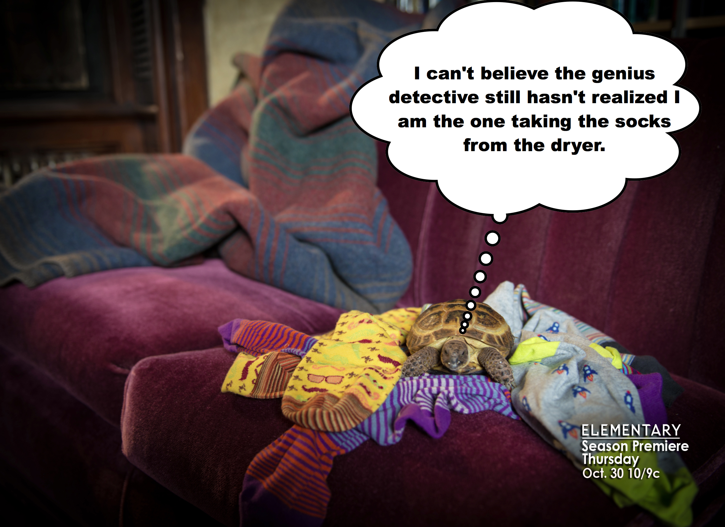 You don't mess with a detectives socks.