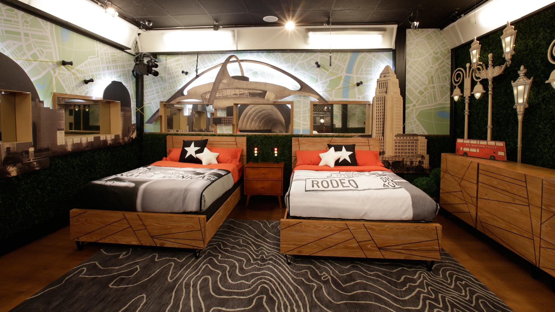 The third bedroom is focused on all of LA's famous landmarks.