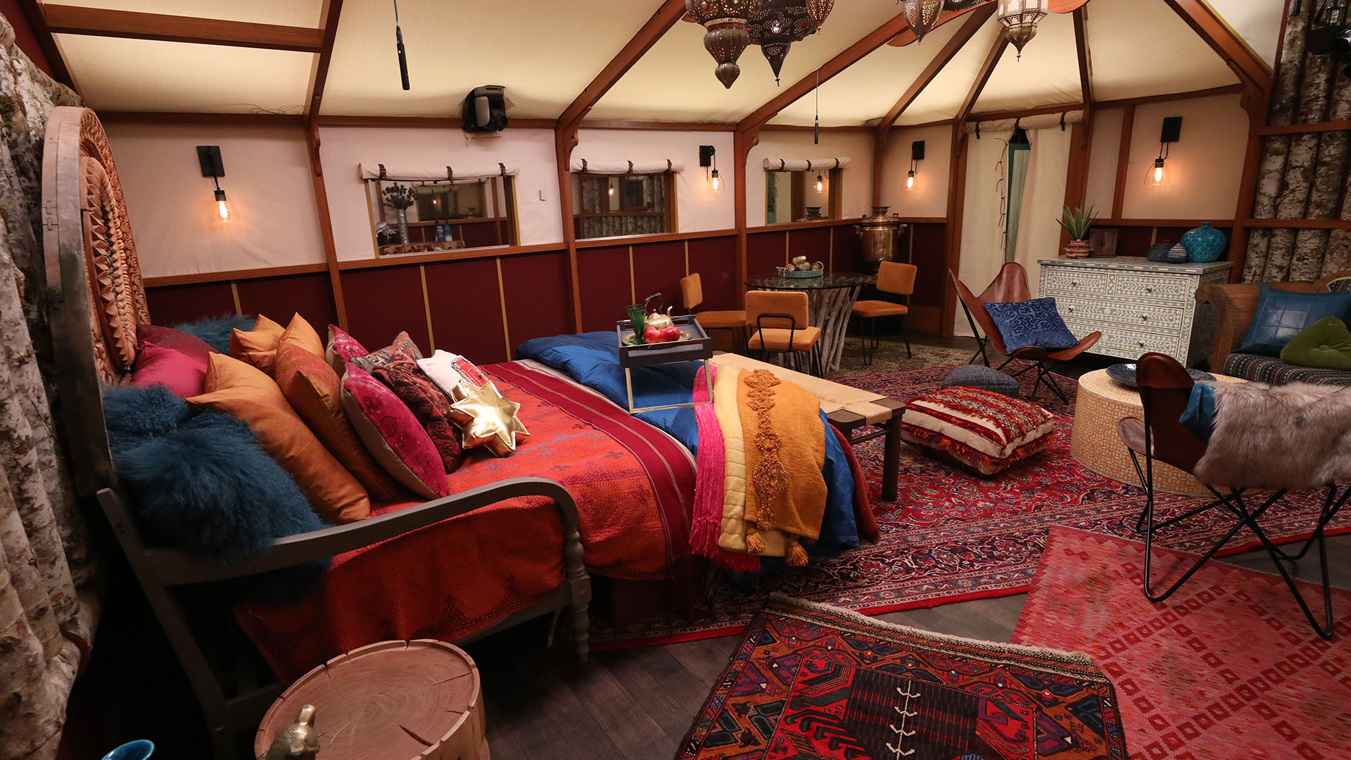 The HOH room is the definition of glamping