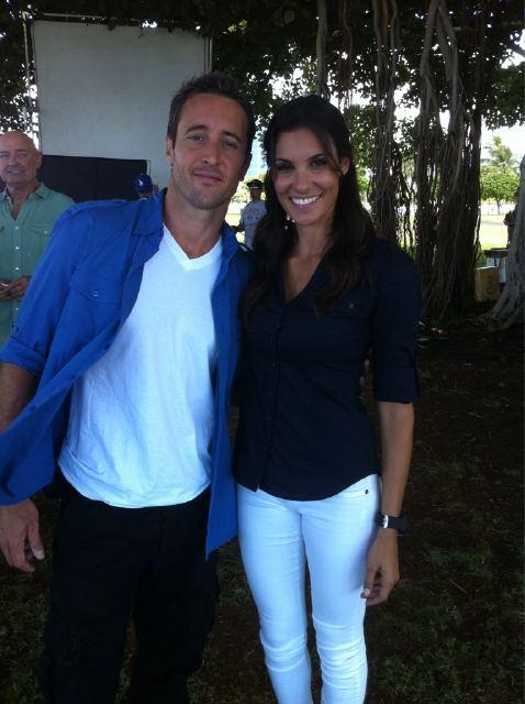 Daniela Ruah and Alex