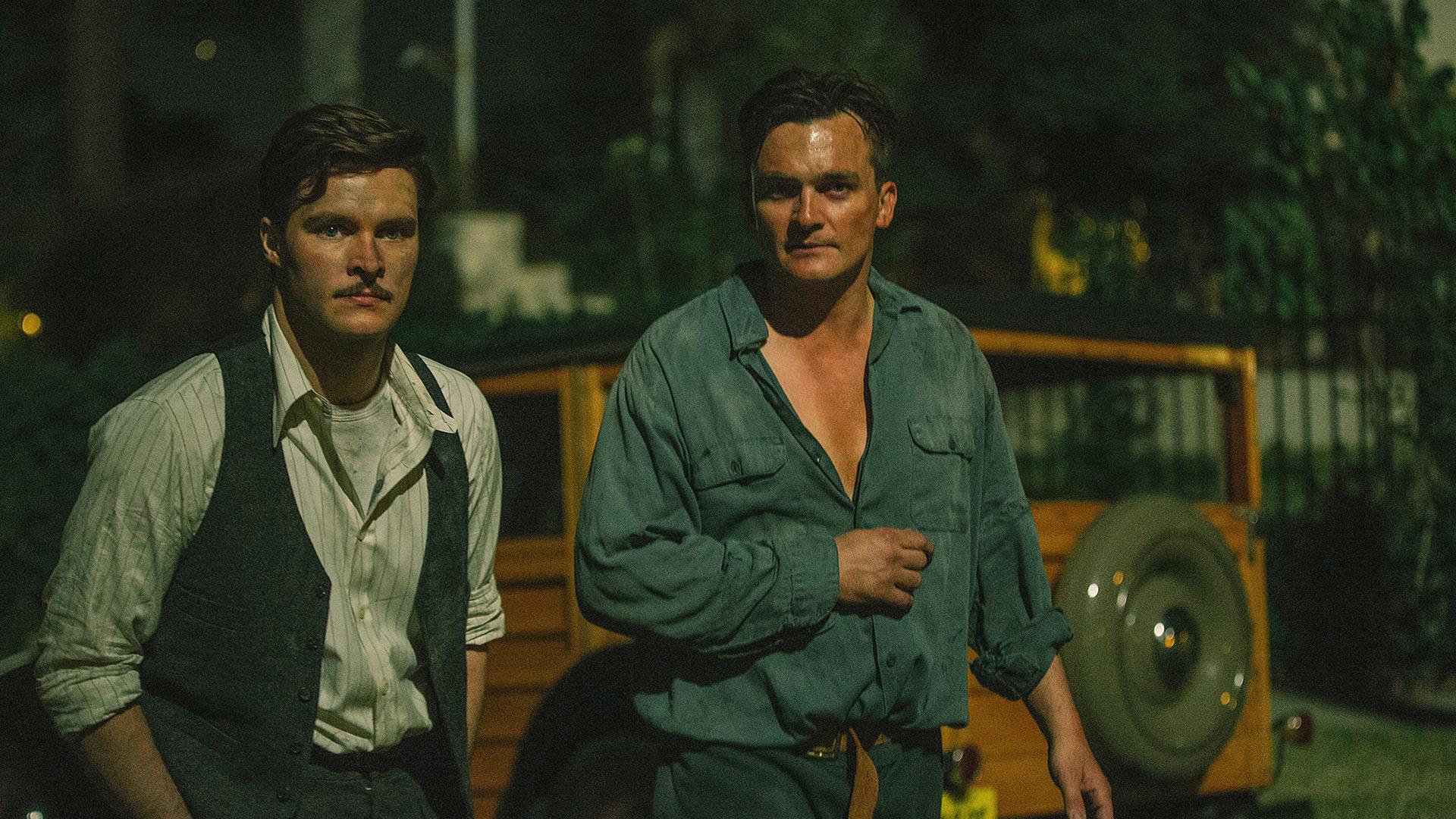 Jack Parsons (Jack Reynor) and Ernest Donovan (Rupert Friend)