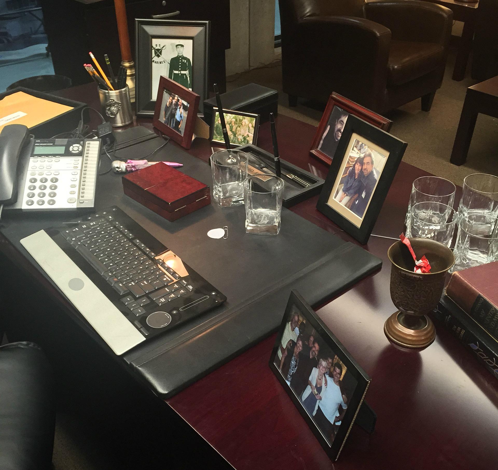Take a look at David's desk