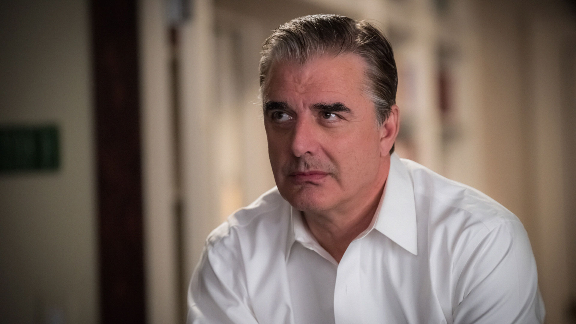 Peter Florrick is somberly facing his situation.