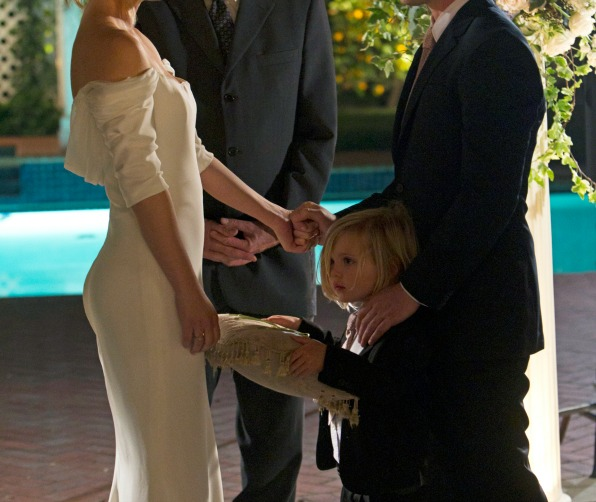 When he served as the world's cutest ring bearer at his parent's wedding.