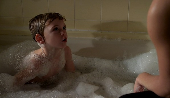 When he was covered in bubbles!
