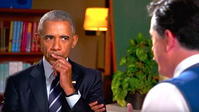 Barack Obama Joins Stephen Colbert For In-Person Interview On The Late Show