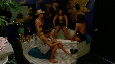 The HGs Are Caught In The Hot Tub As The Live Feeds Turn On