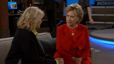 Hillary Clinton Appears As Murphy Brown's Secretary In Premiere
